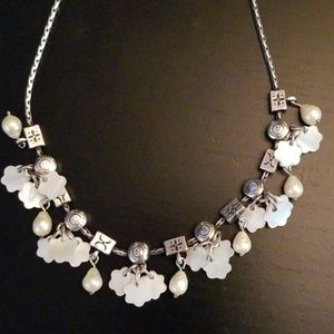 Brighton mother of pearl flower necklace